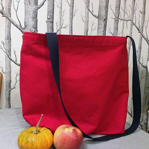 apple canvas tote