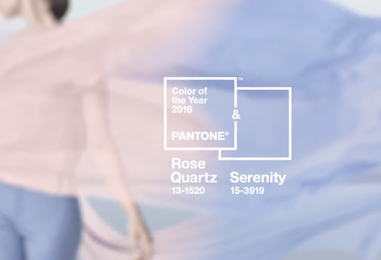 pantone colors of the year, rose quartz and serenity