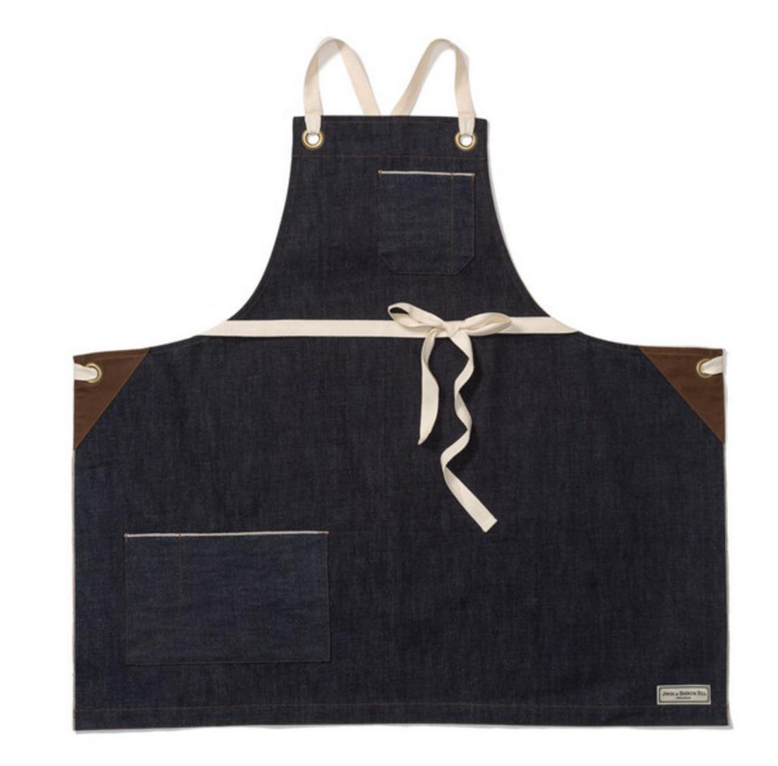 Denim apron from  Jones of Boerum Hill Brooklyn