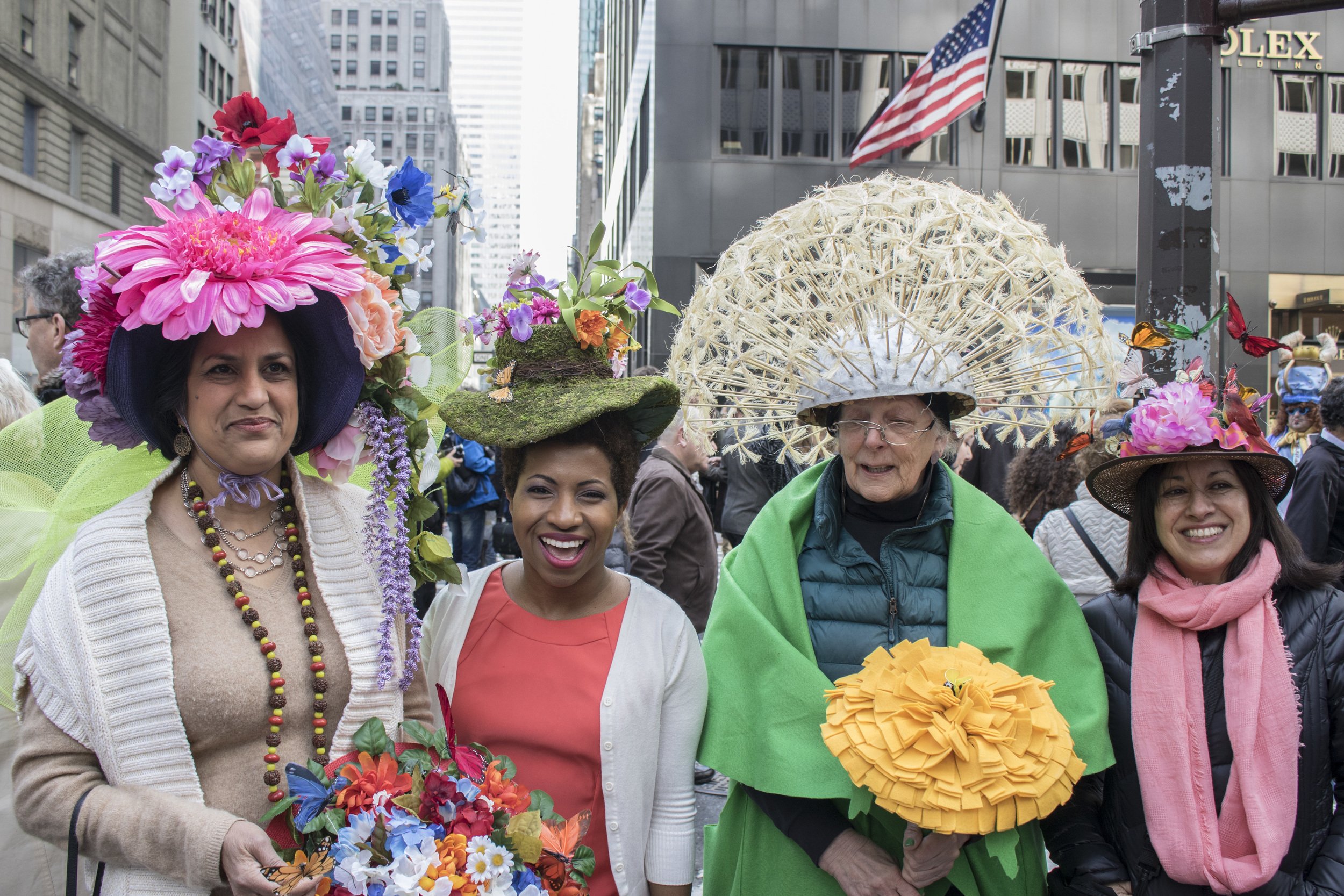 Wearing local Etsy Seller, Dora Marra,Easter Derby Hat, $90.  Buy it here
