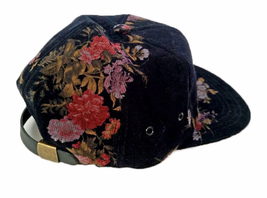 Floral Corduroy Hat by   DeathXDesign