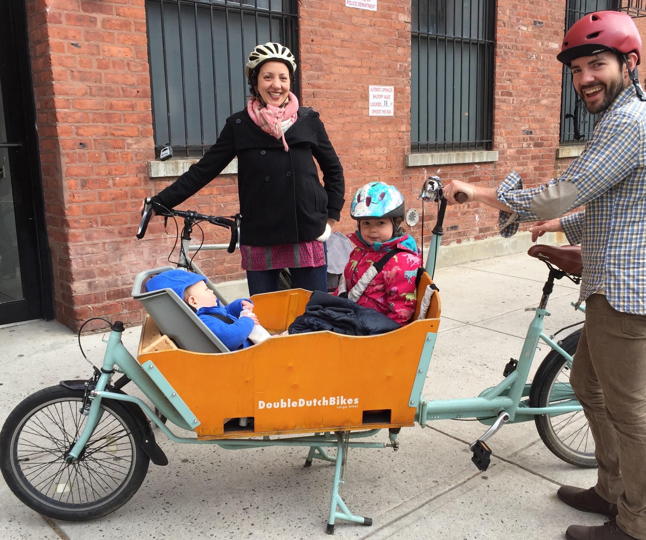 Gotta love the cargo bike!