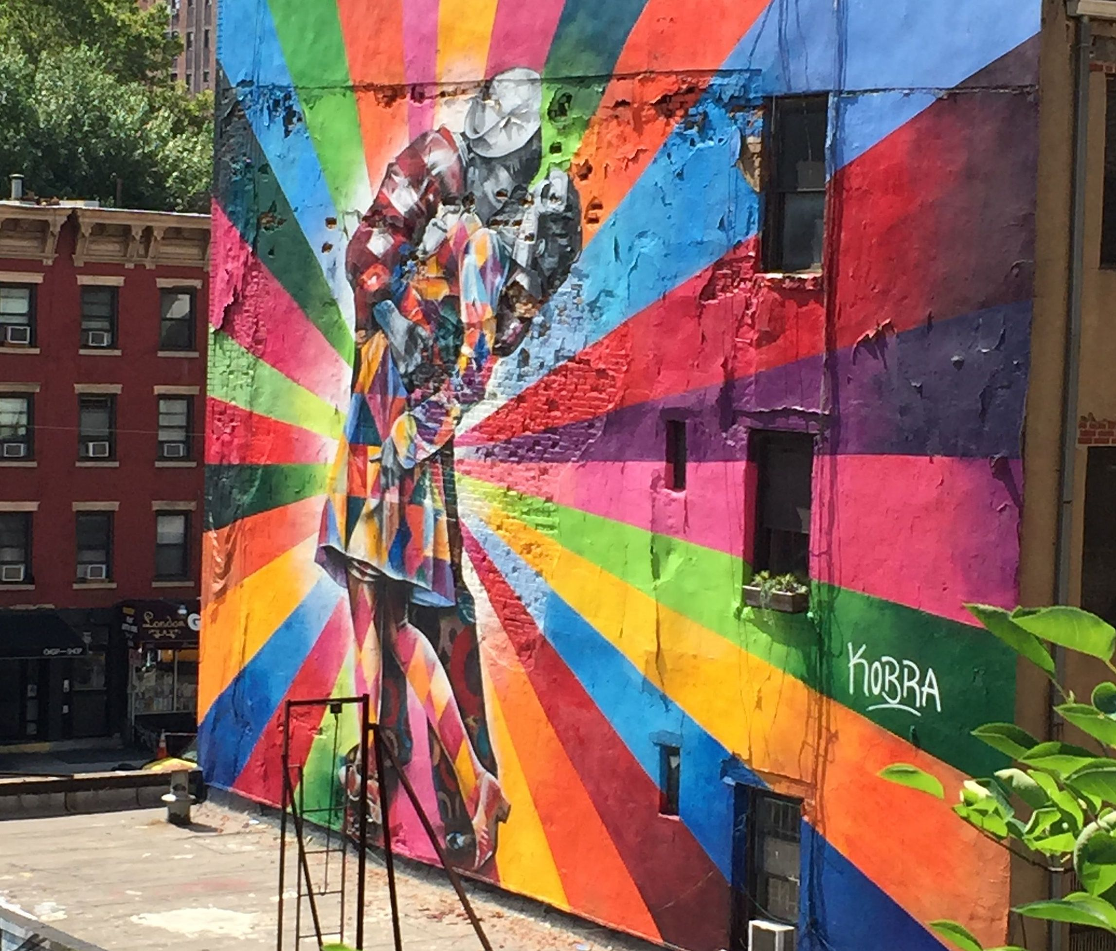 "Homage to ""V-J Day in Times Square"" by Eduardo Kobra. West 25th Street & 10th Avenue, NYC"