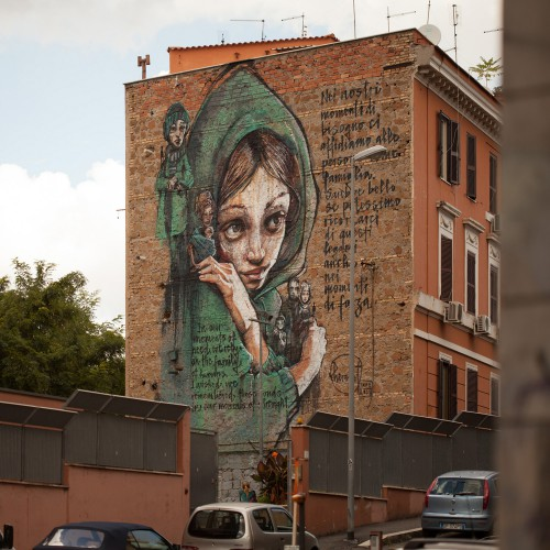 Street Heart Project, Rome Italy.  Herakut