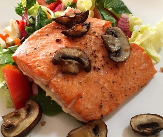 4 Ingredient Broiled Salmon