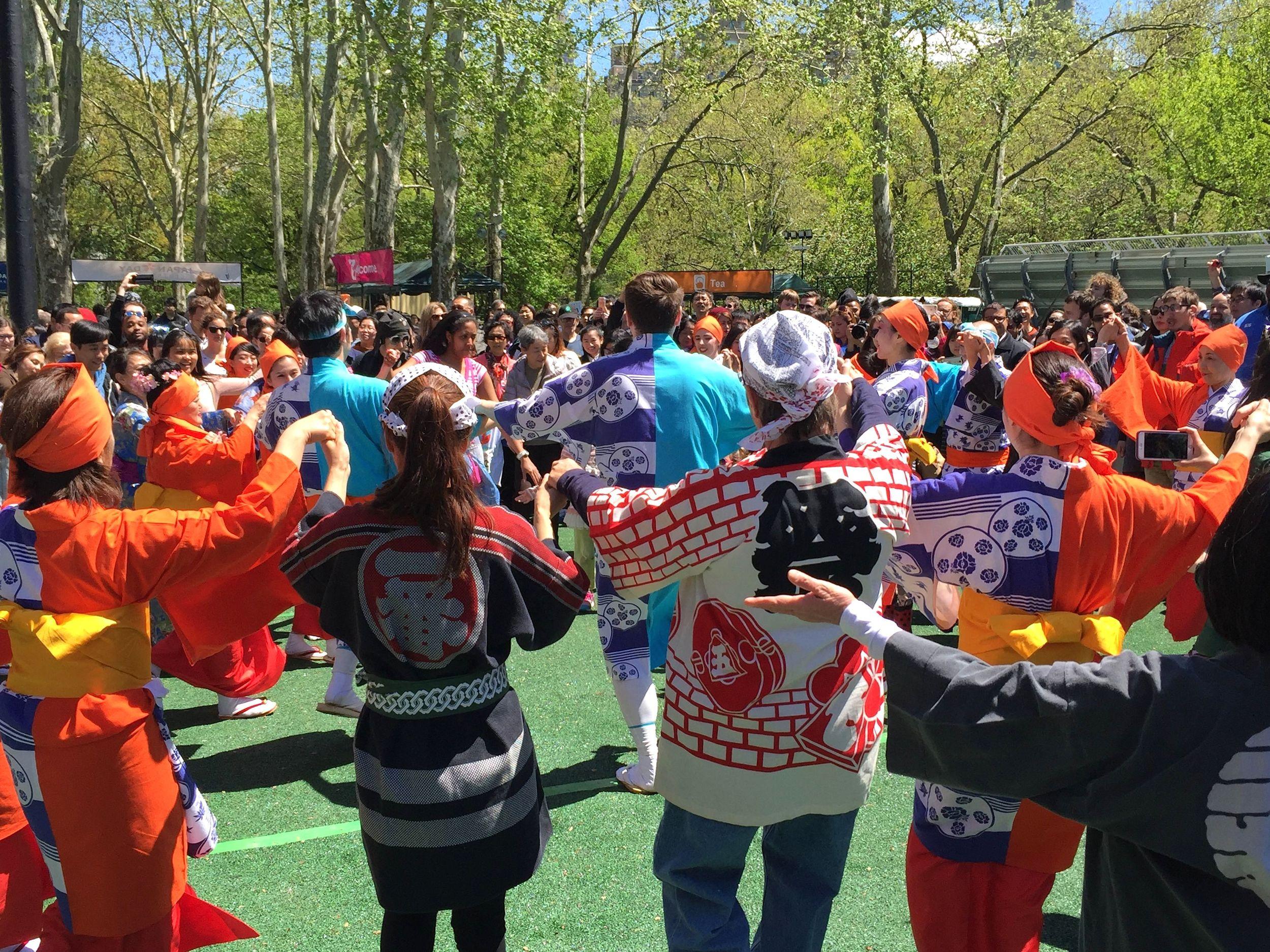 Bon Odori Dance with the Japanese Folk Dance Institute of NY