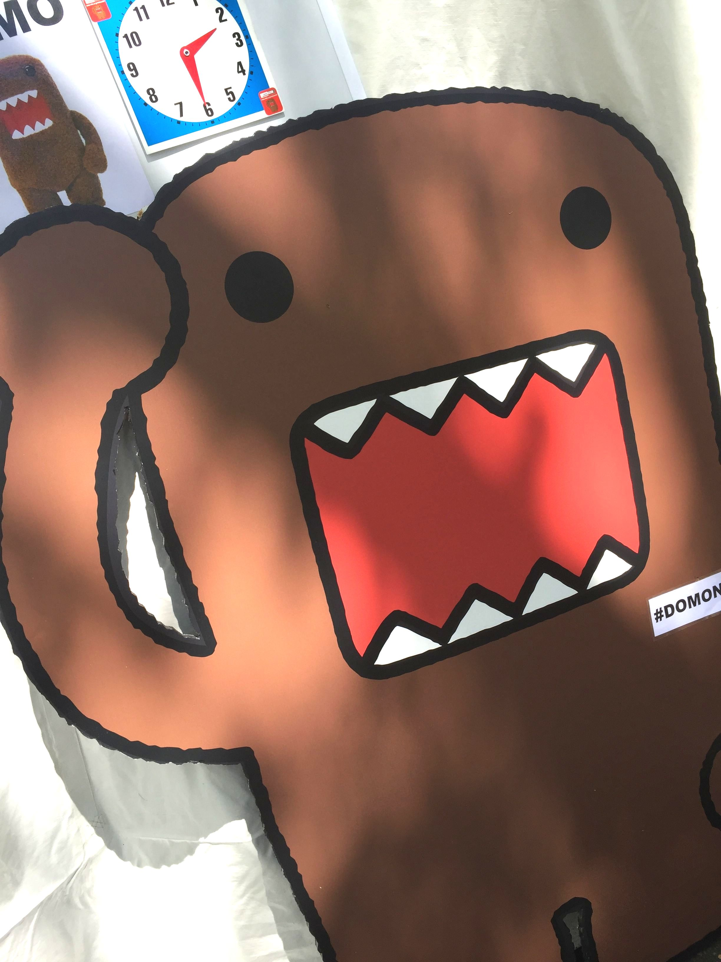 Photo booth featuring Domo, the official mascot of Japan public broadcasting,NHK
