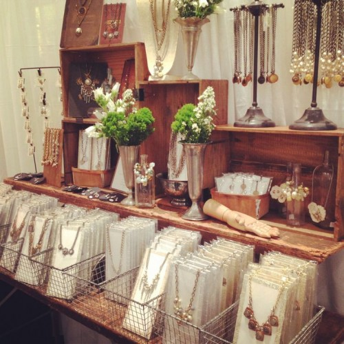 "Jewelry Display Showcasing ""Flip Through"" Bins 