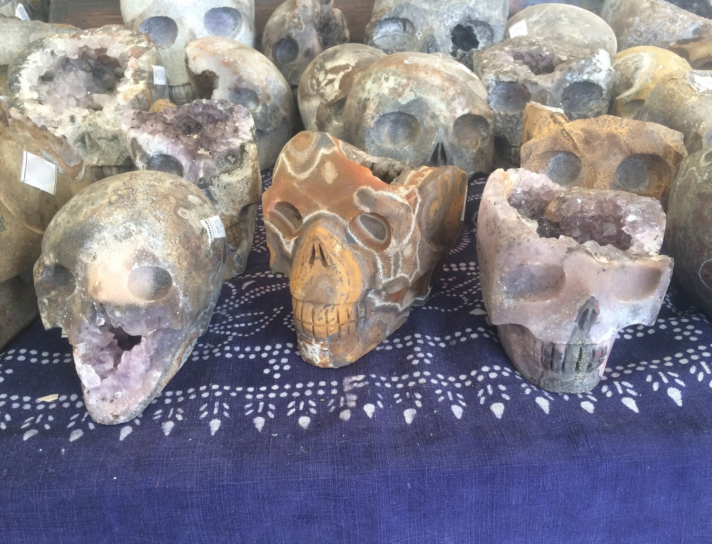 These geode skulls were incredible!