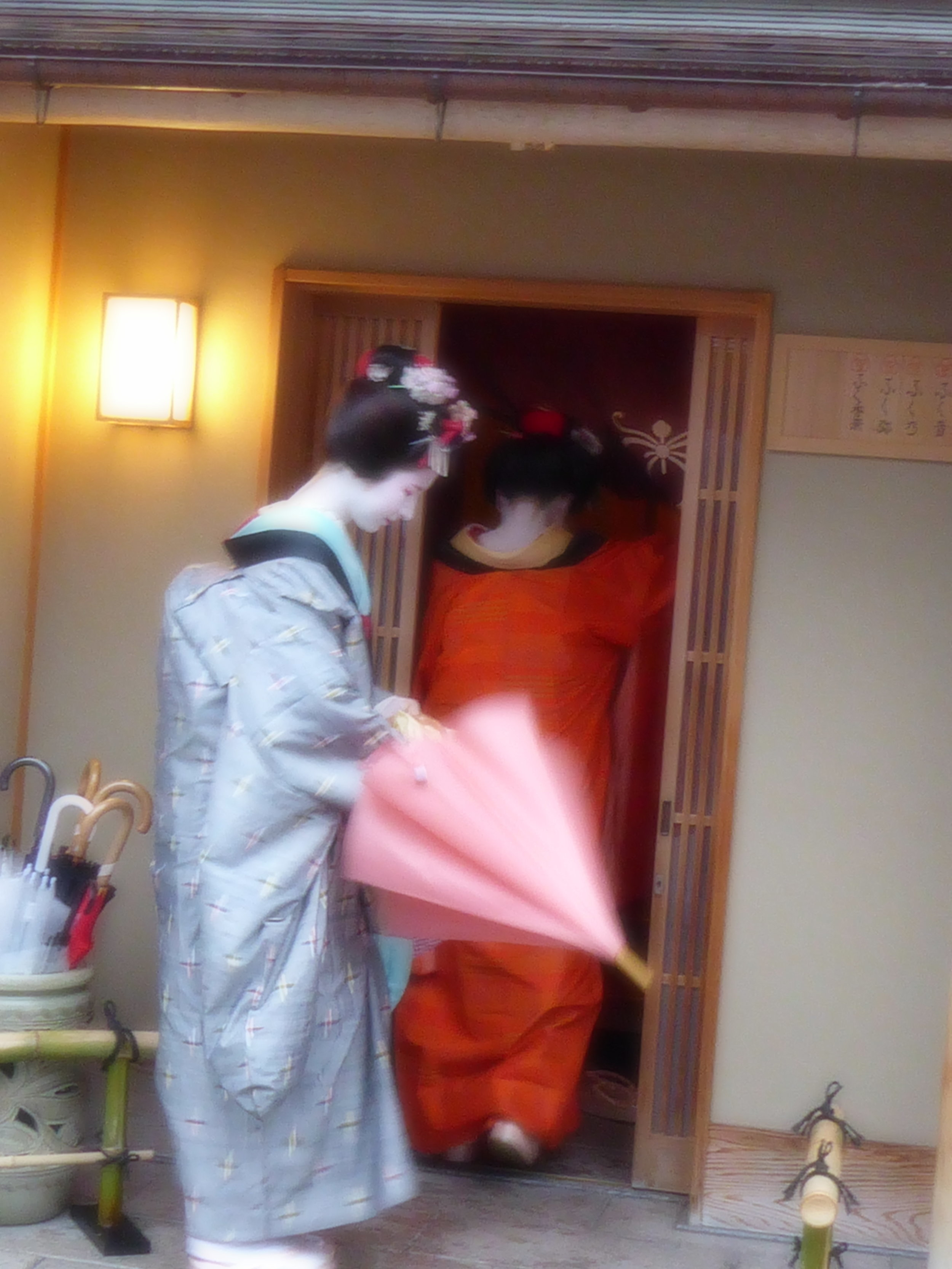 We wandered through a small, historic geisha neighborhood and, thanks to an historian acquaintance from Kyoto,learned about the life of a geisha. We also saw a geisha show put on by one of Japan's 'living national treasures.'