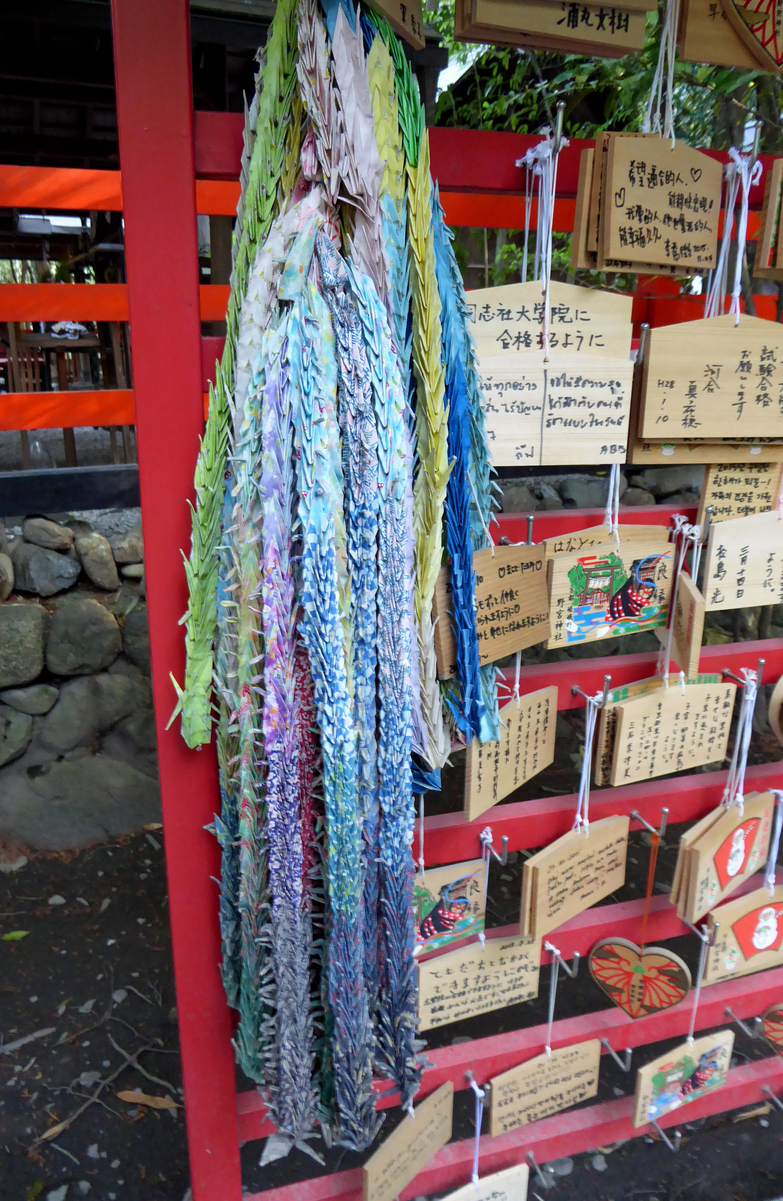 These thousands of cranes are left with wishes at shrines throughout the city.