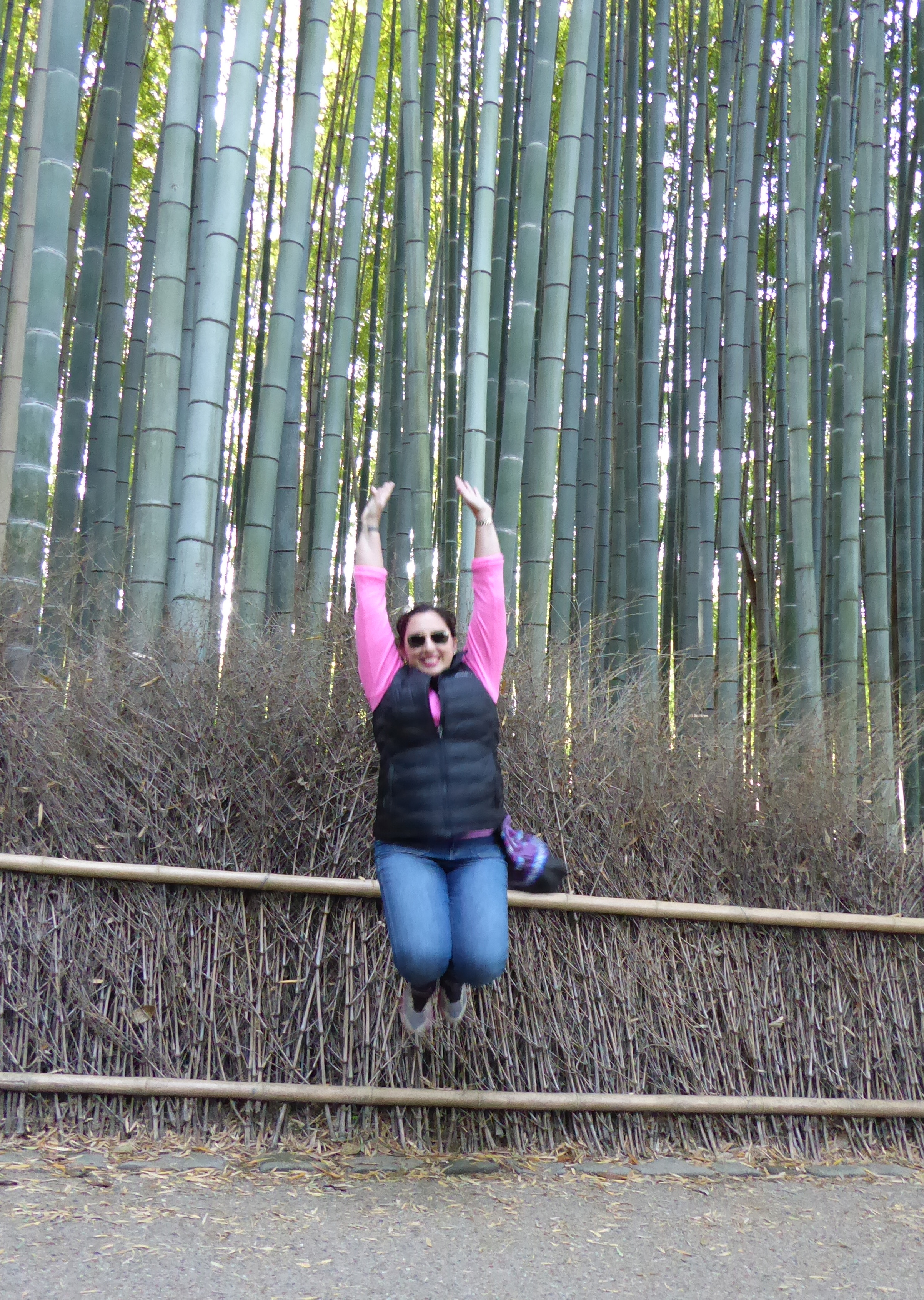 Jumping for joy at the end of an amazing trip!