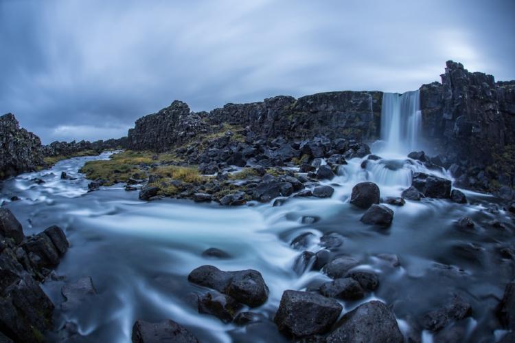 gorgeous waterfalls --Öxarárfoss , in Þingvellir National Park