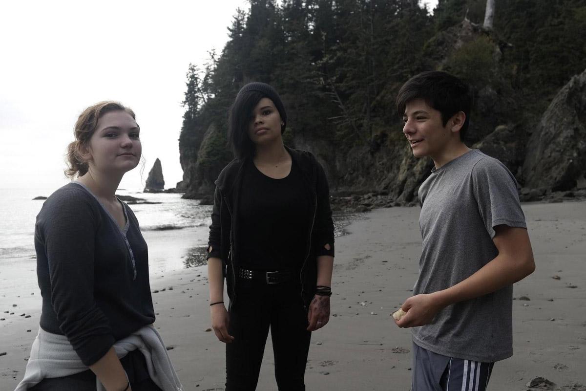 Maxine McCuller, Eva Woodson, and Noah Rose-Ledesma