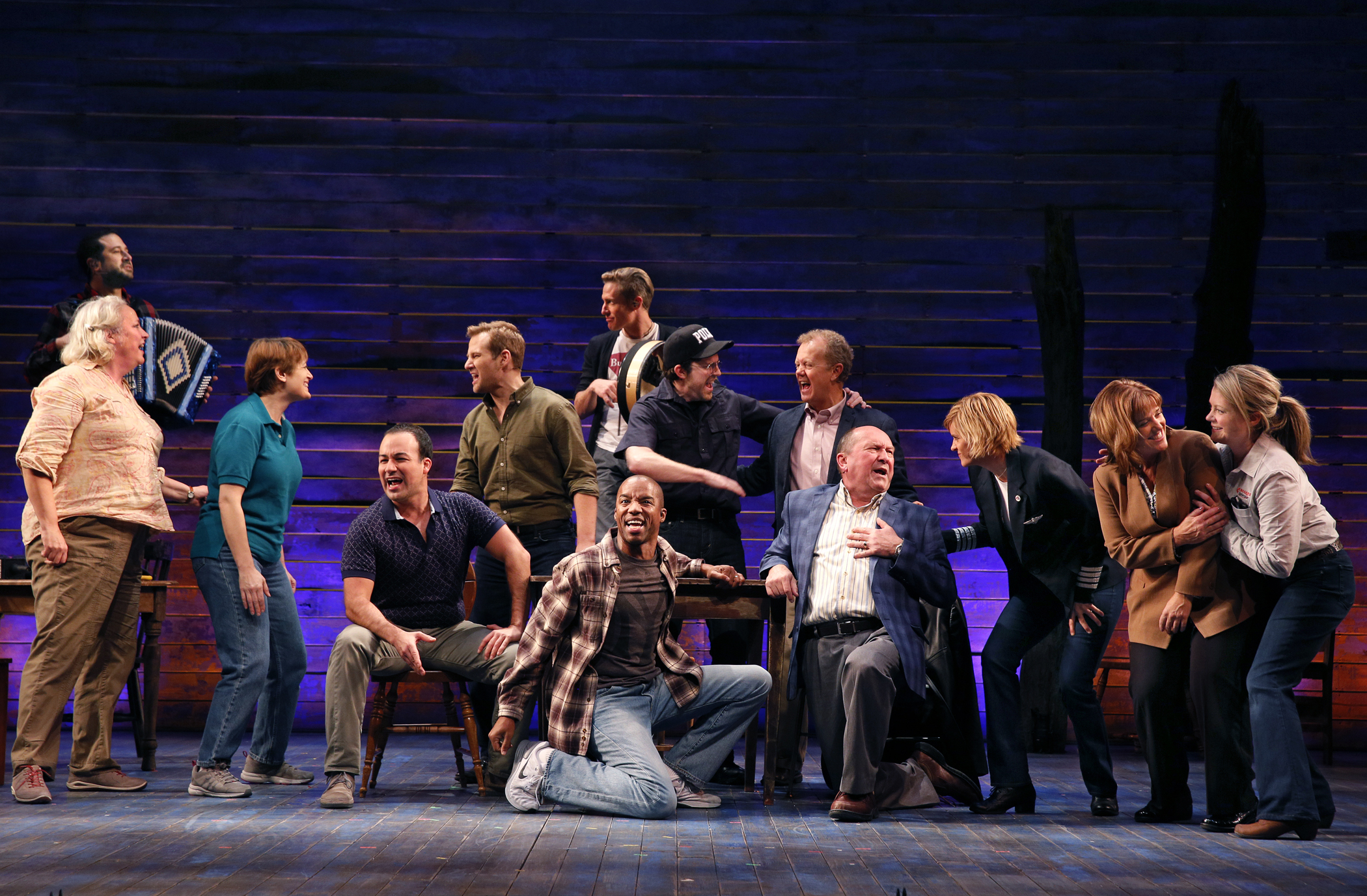 Company of  Come From Away . Photo by Chris Bennion.