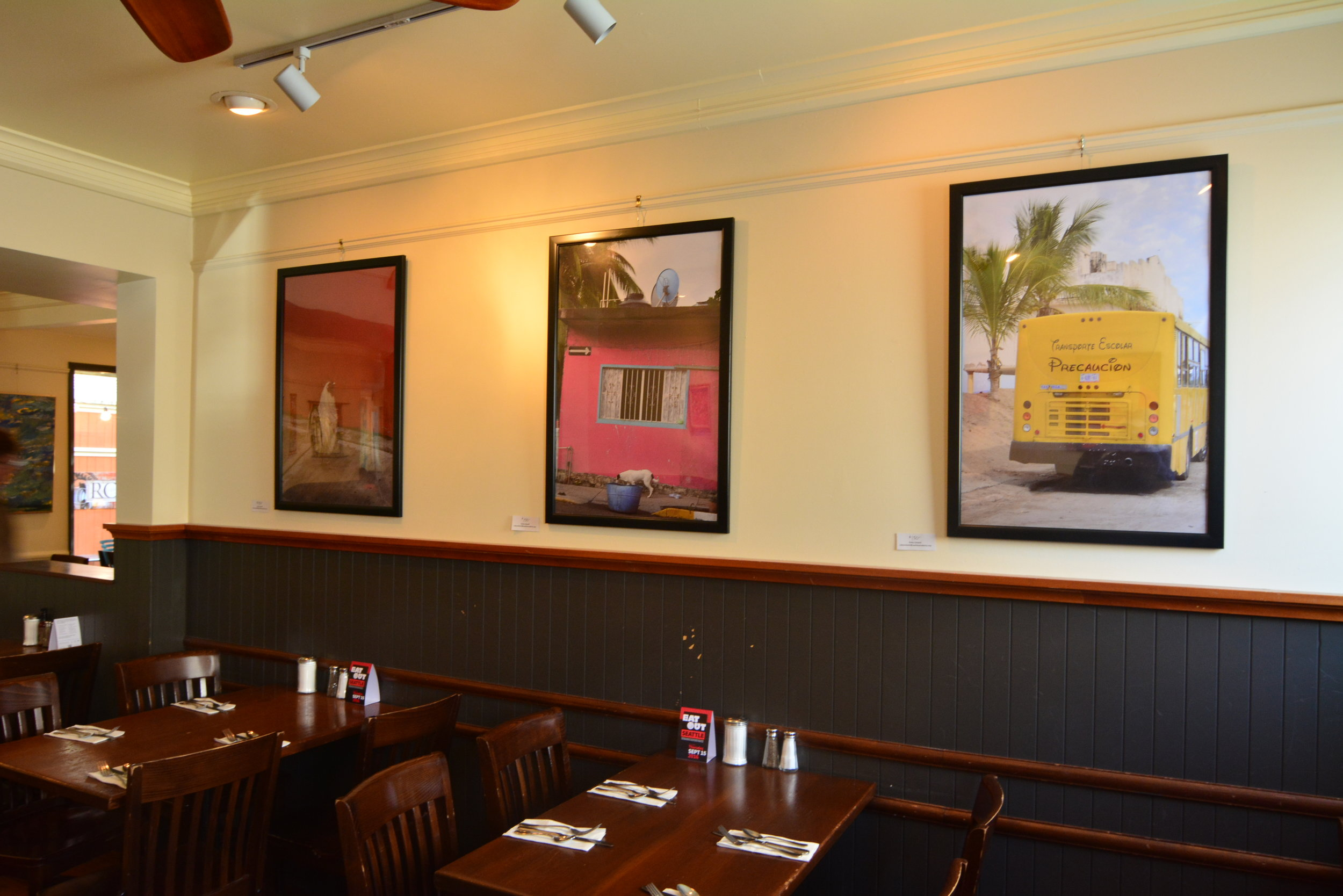 Ruby Colwell's photographs are on display at Coastal Kitchen.