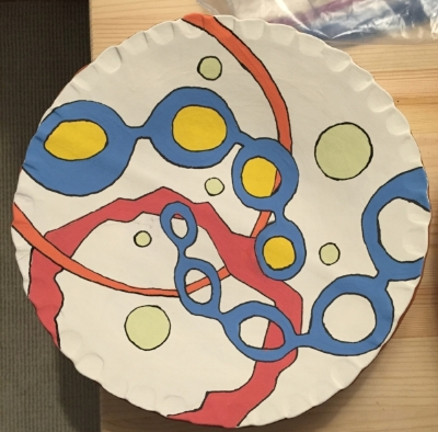 A prototype for a set of dishes designed by Lily.