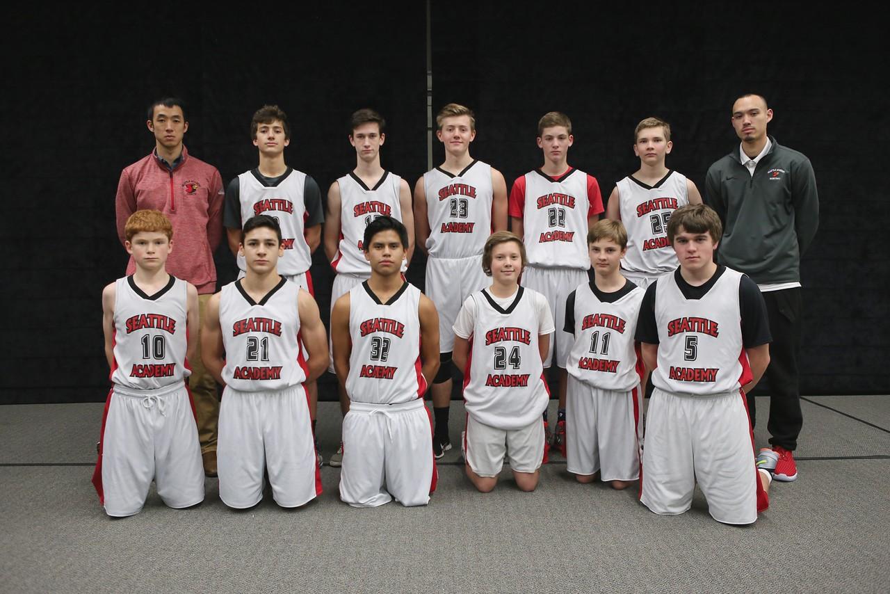 Brendan Beyl with the 2015-2016 boys' JV-C team.