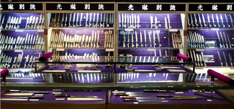 Korin Japanese Trading Company   -     Nothing summarizes what we do more than a functional and beautiful set of knives. that being the case our most perfected purveyor is the one that has brought the national pride of Japan to American kitchens!  Located in Tribeca, Korin is the best knife store in the country.