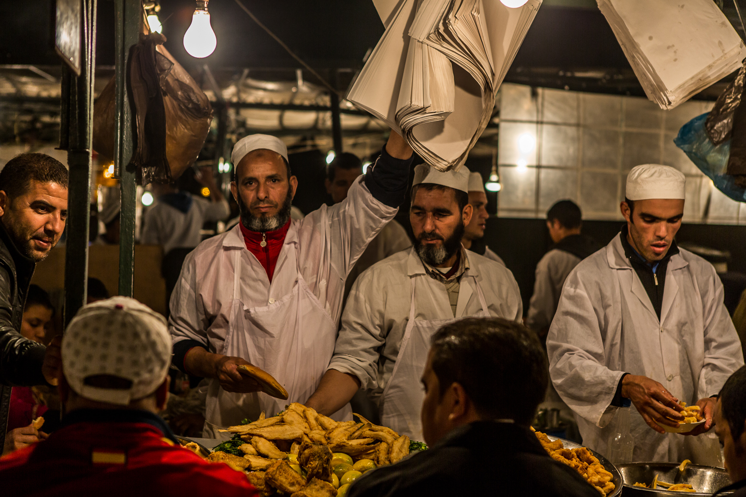 The Stall Owner at Djemaa el Fna
