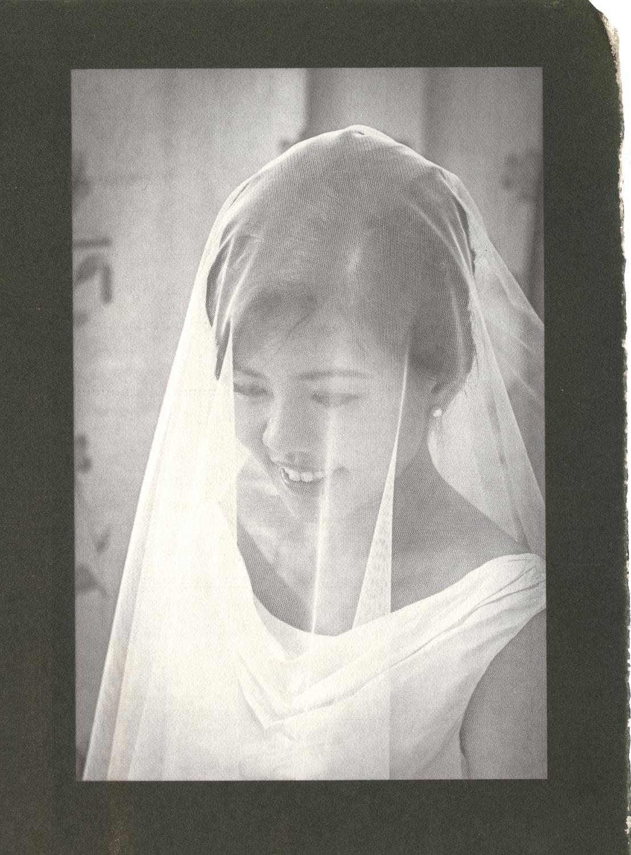 The bride's moment