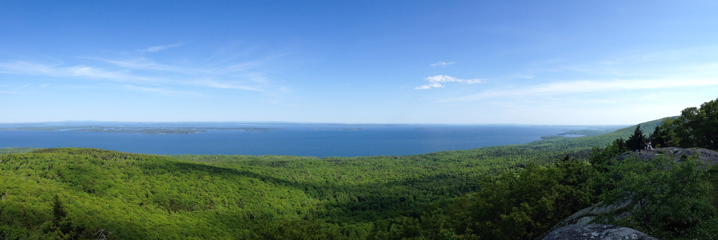 View from the summit of Bald Rock Mountain.   Lincolnville, Maine