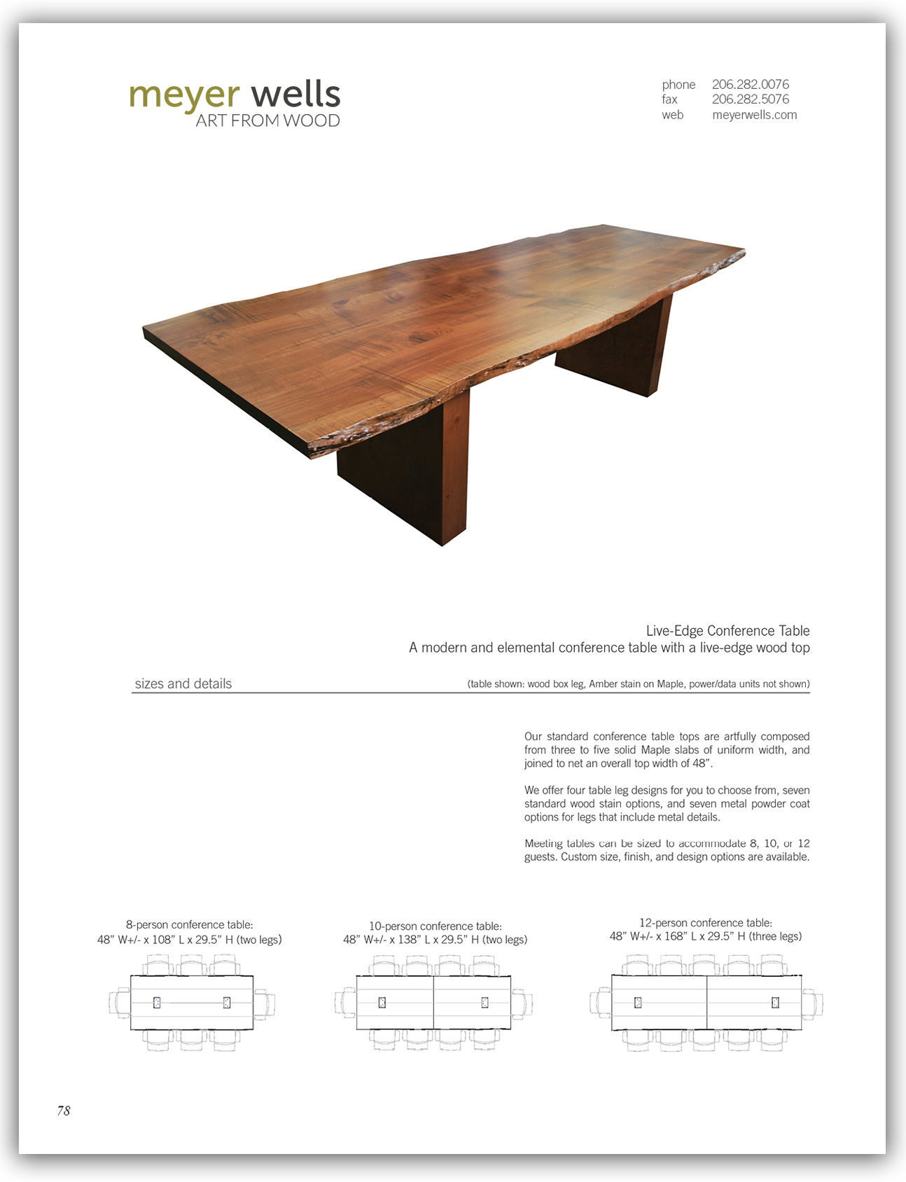 live edge conference tables