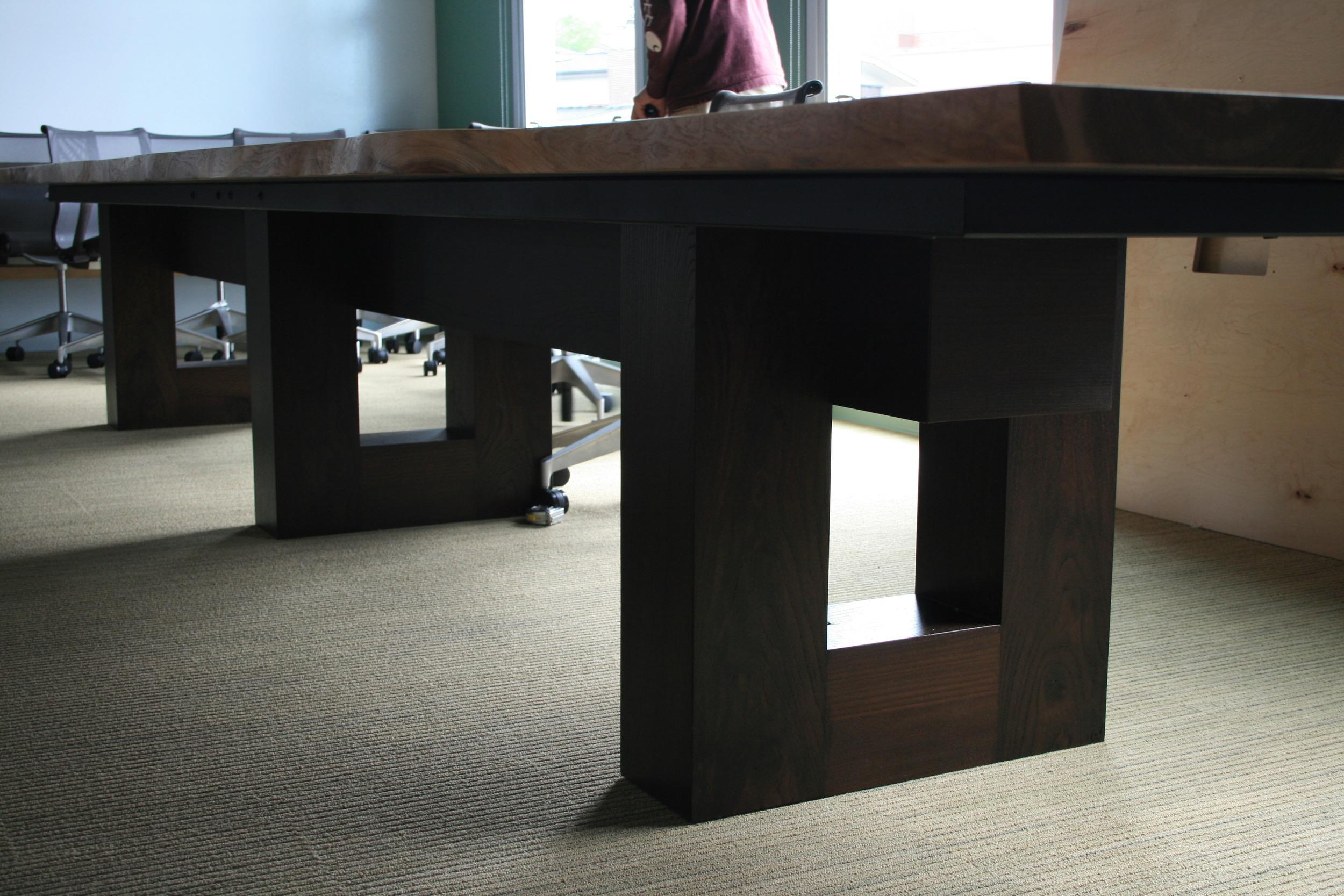 wood u-shaped base