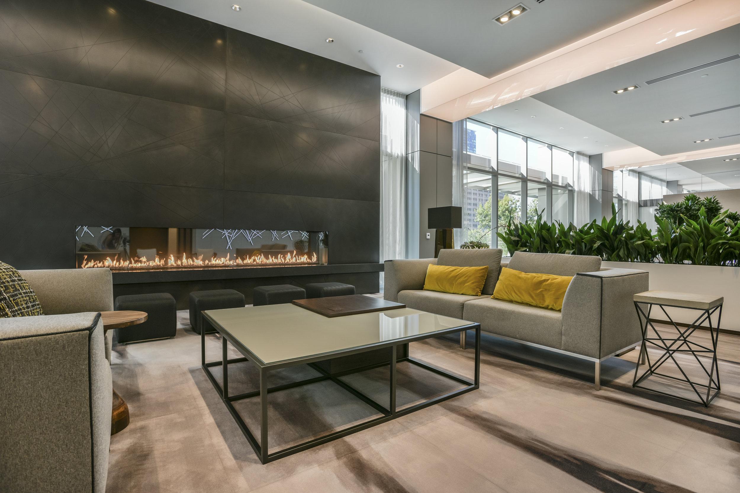 custom apple ply & glass coffee table