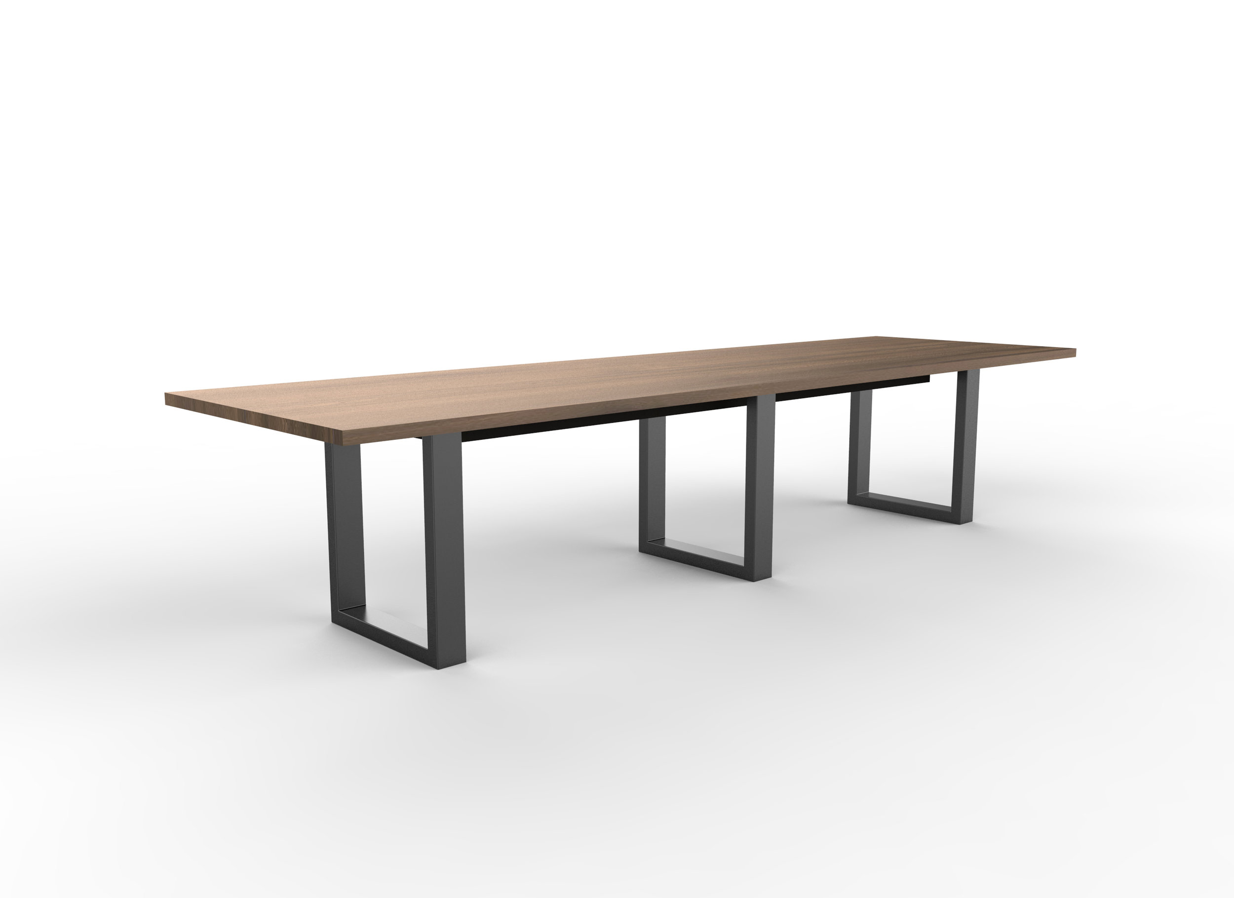 Brower table in Clear Walnut top and Matte Black base
