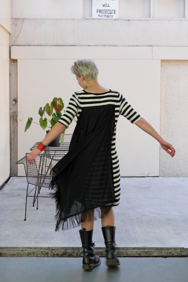 Otsu  Spring Haze Dress in Stripe