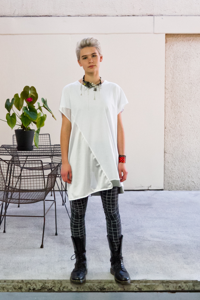 Kowtow  leggings Top by Strange Love Necklace Collab between  Company of Strangers  and Underground Sundae