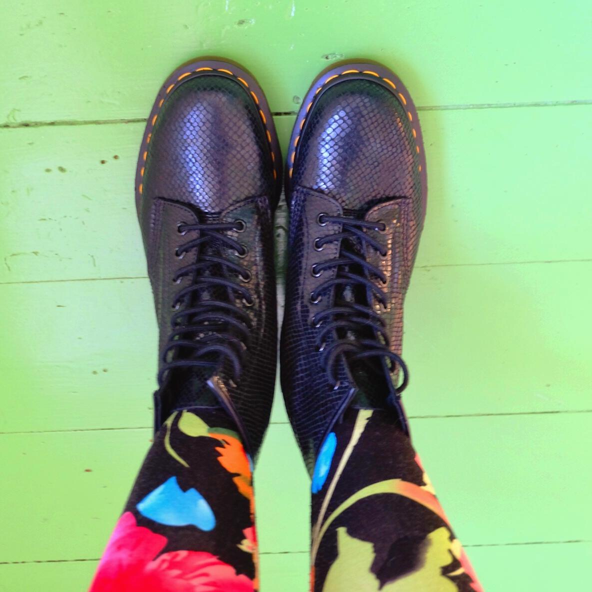 1460 Black Noir with  Cuda Sisters  tights.