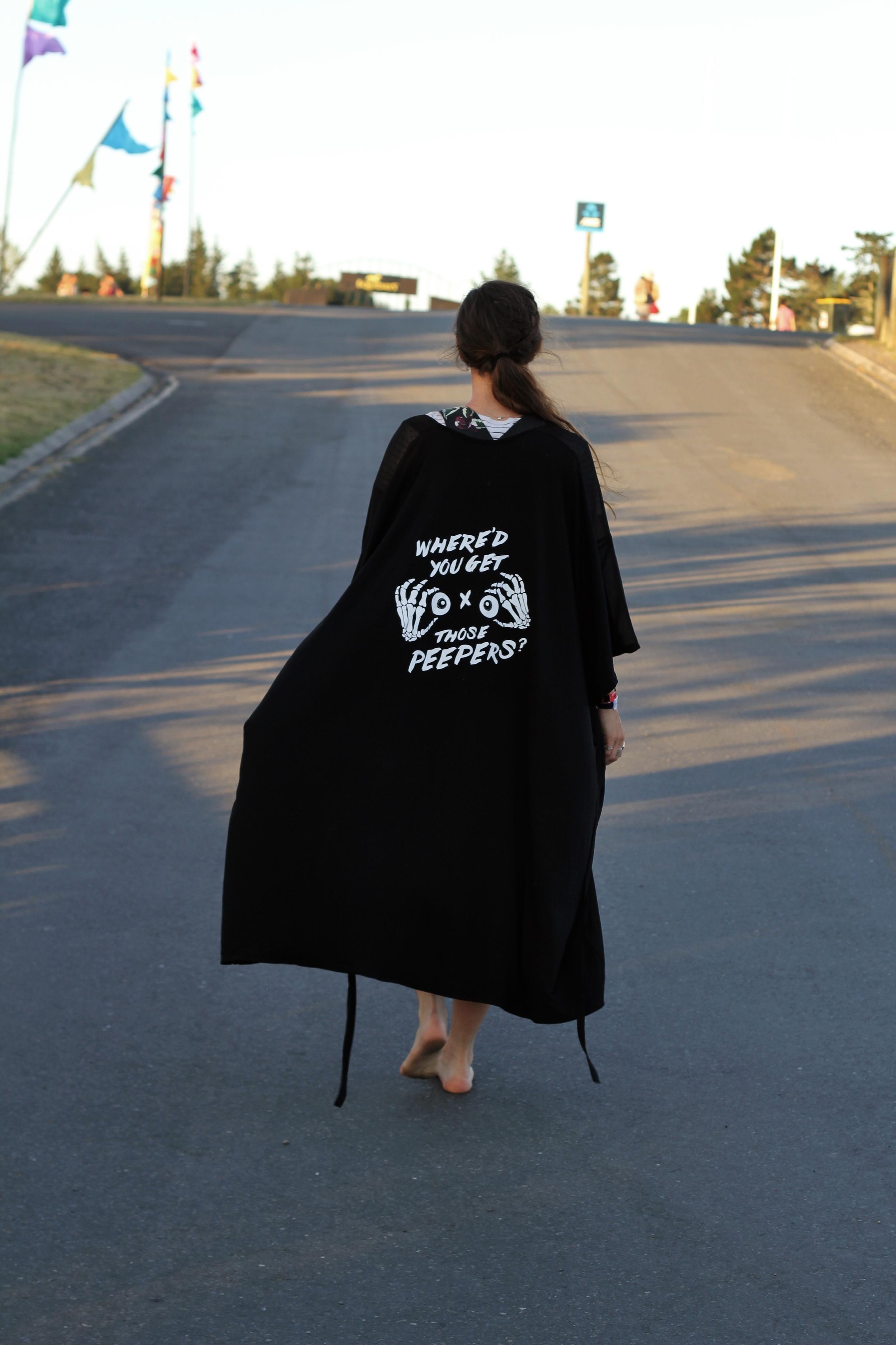 Tiffany Ross from  Late Night Poets wearing the  Maaike   Perception Jacket