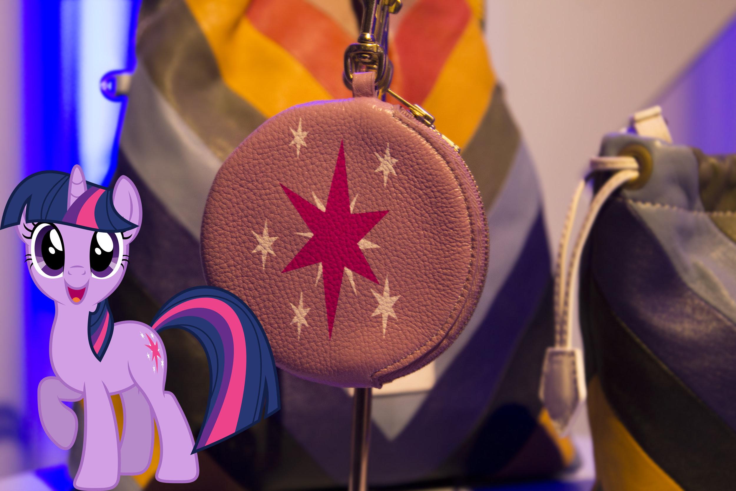 A Twilight Sparkle  Pony Pom Pom Purse