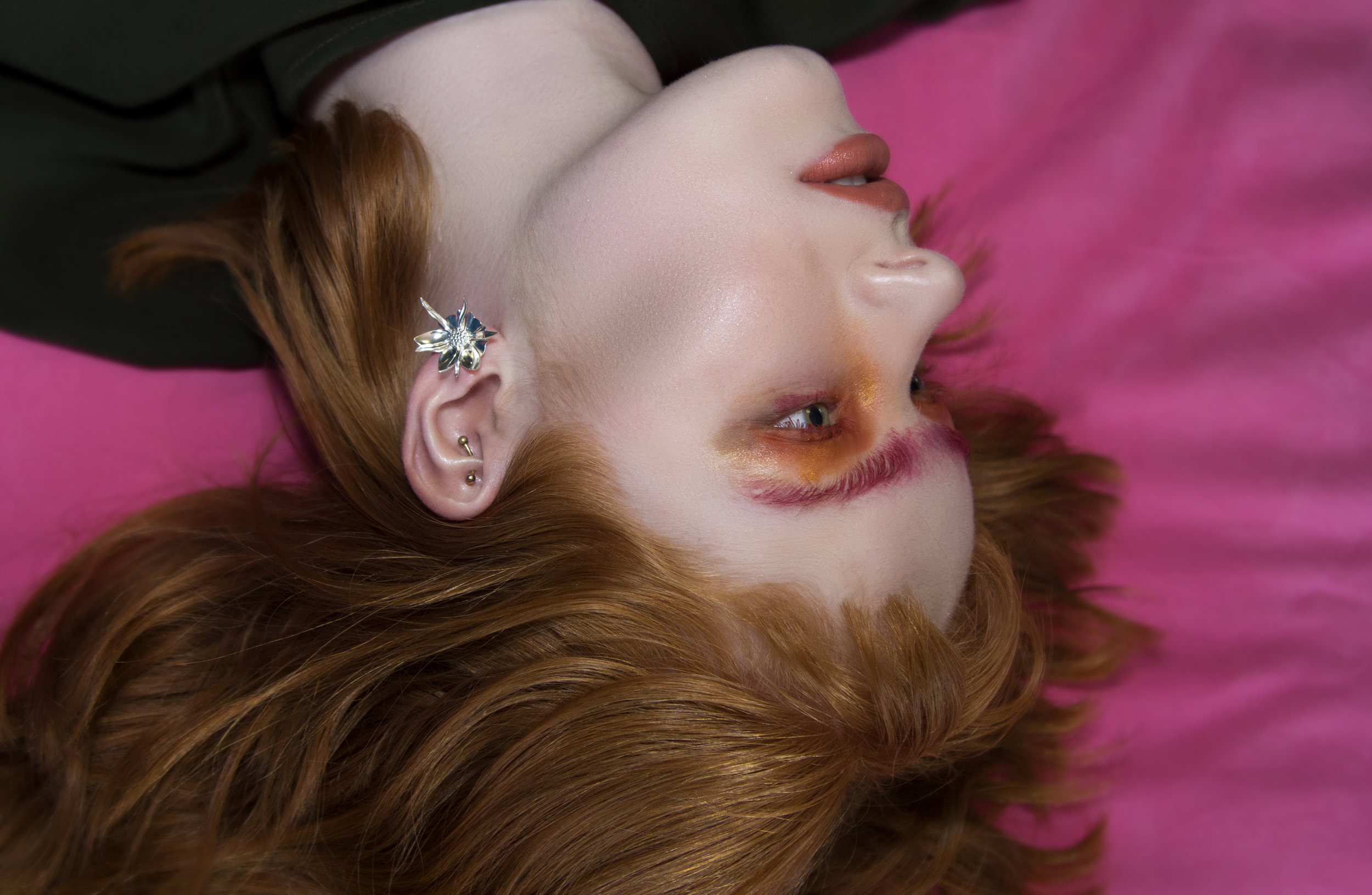 Meadowlark Wildflower earring in large.