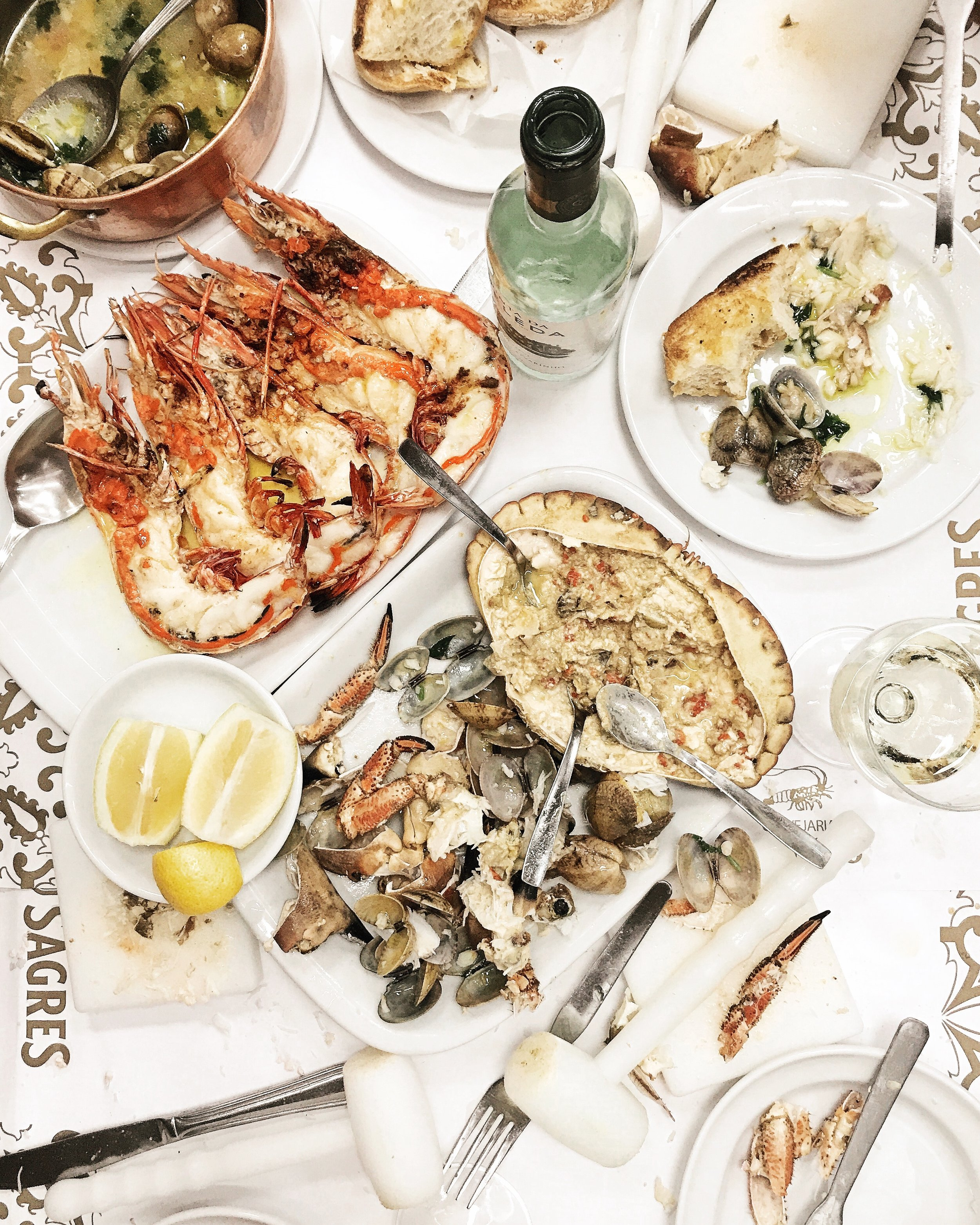 Seafood at Cervejaria Ramiro