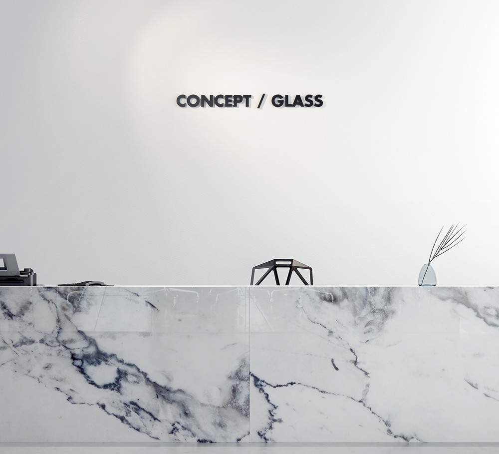 Visualisation - Marble texture printon glass