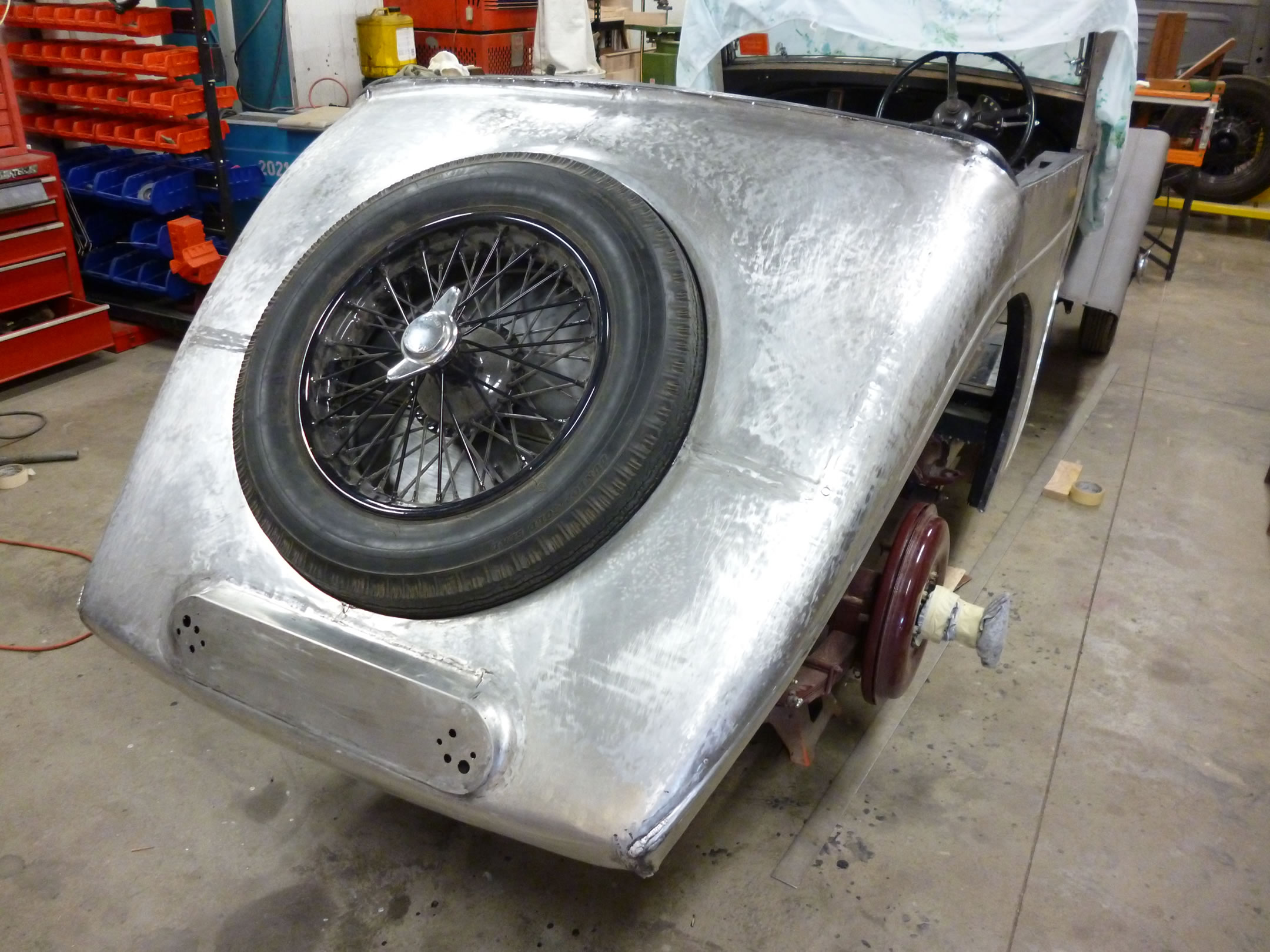 Riley Sedanca aluminium rear view