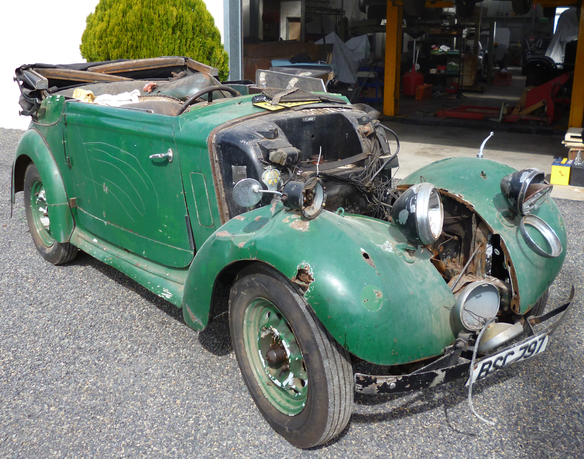 The 1934 Hillman came to the workshop for a full restoration. After its former life in Scotland as an everyday driver and family car the Hillman has travel the world. The timber frame and steel work is showing signs of abuse from years of hard work and hostile environments.