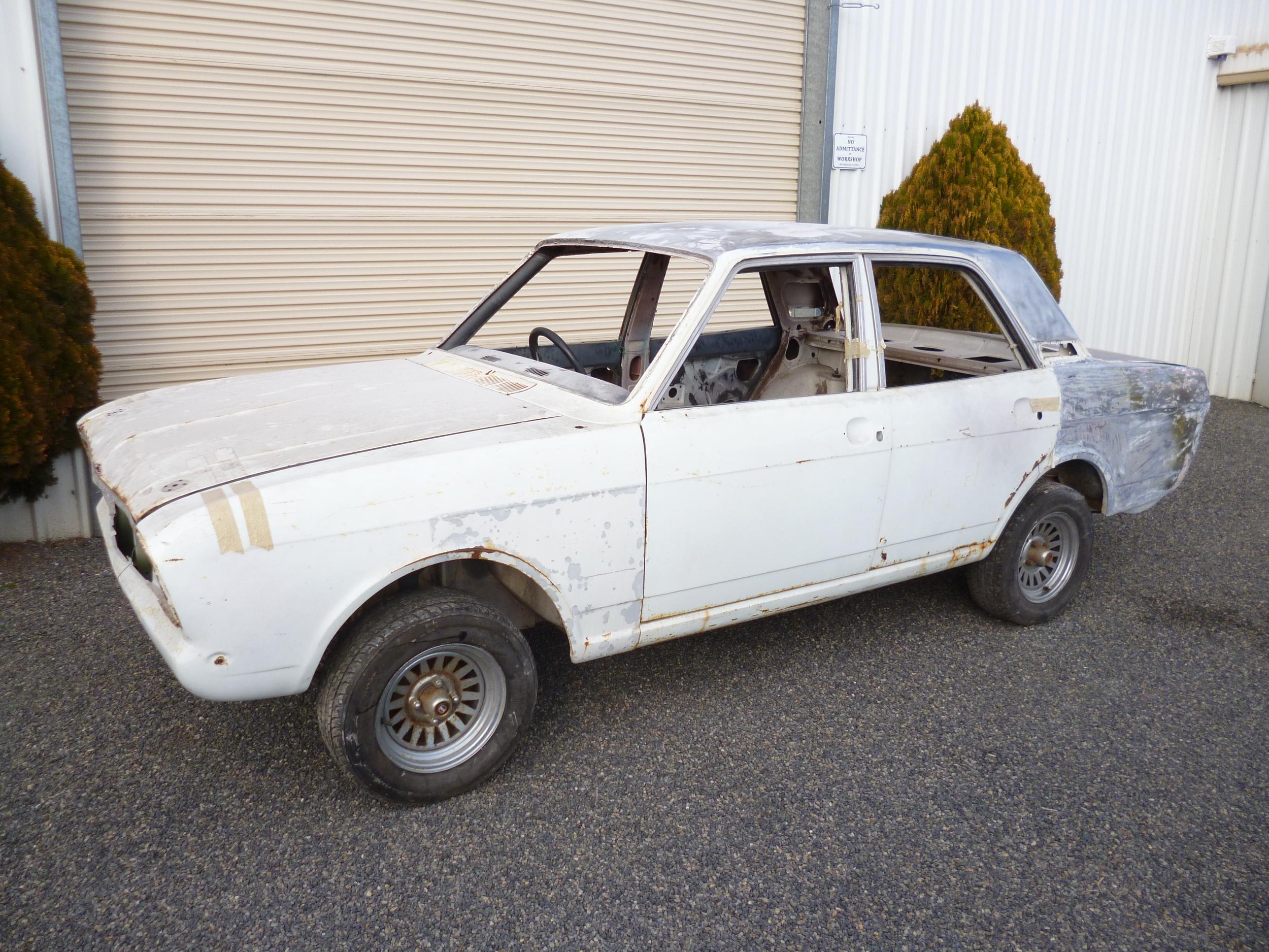 Ford Cortina GT rally car.