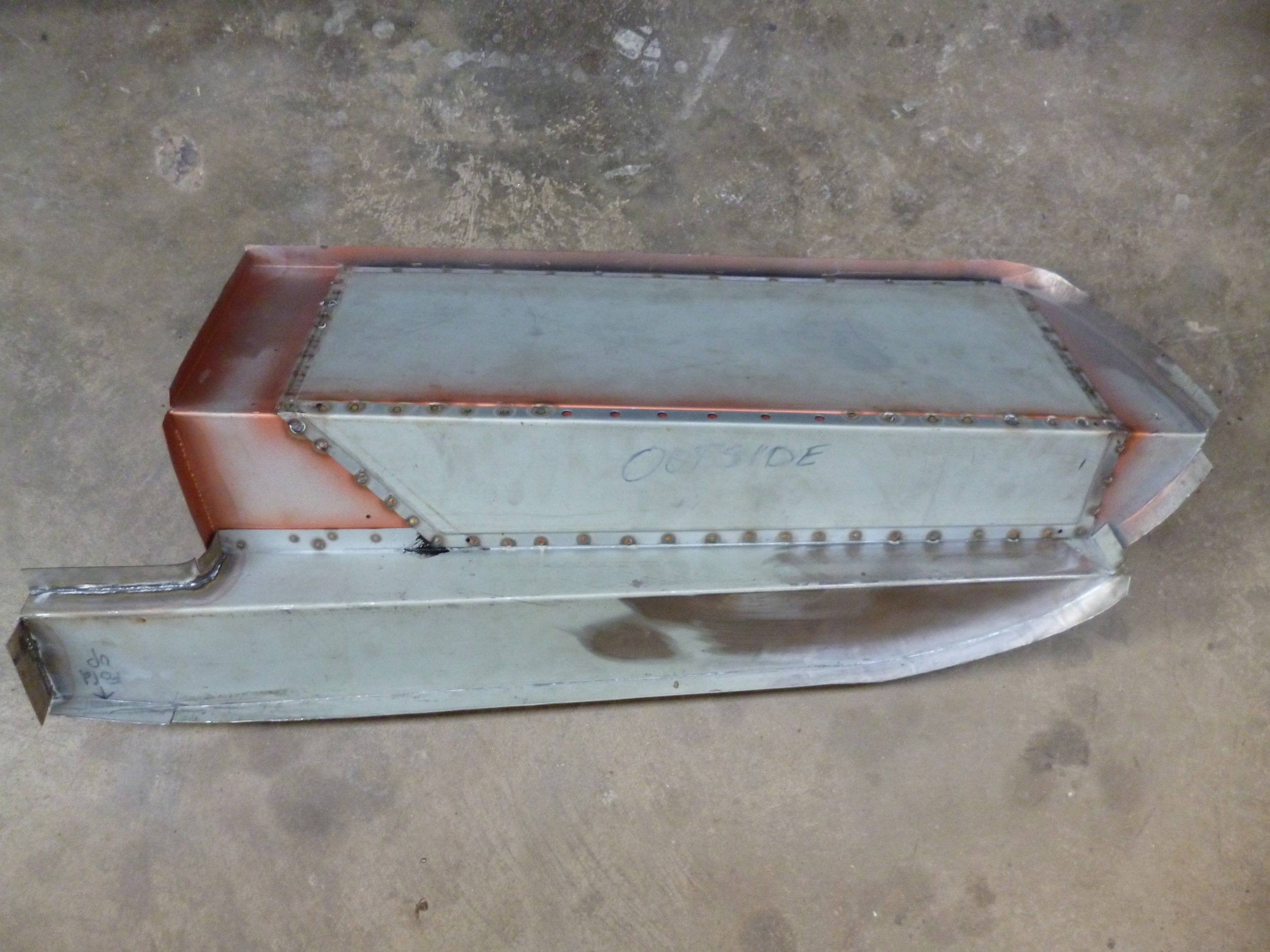 The new inner rear rails, boot wall and boot floor are made from zinc-anneal sheet steel all welded sections have been painted in weld through primer to help reduce corrosion in the future.