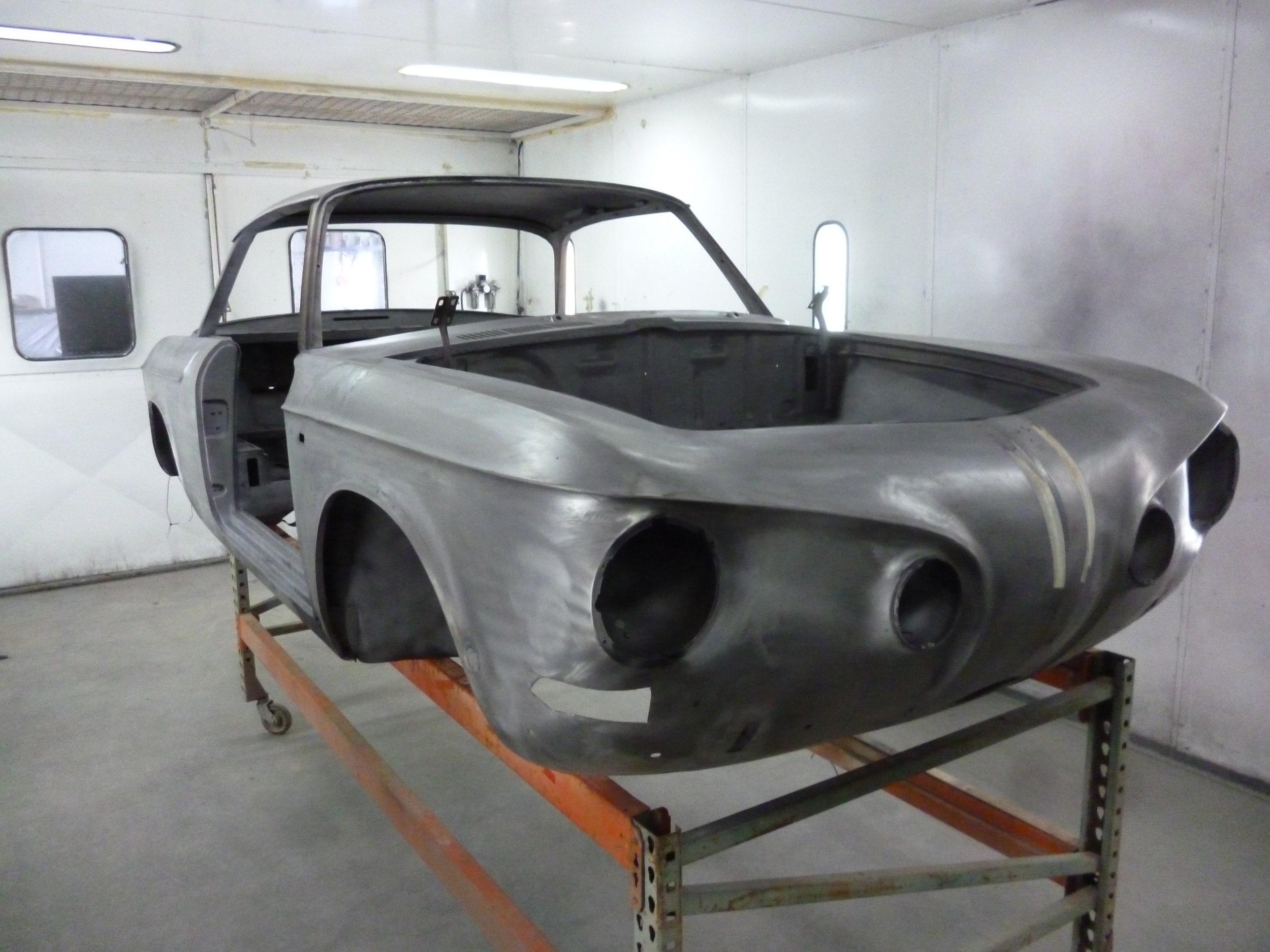 Body shell ready for restoration
