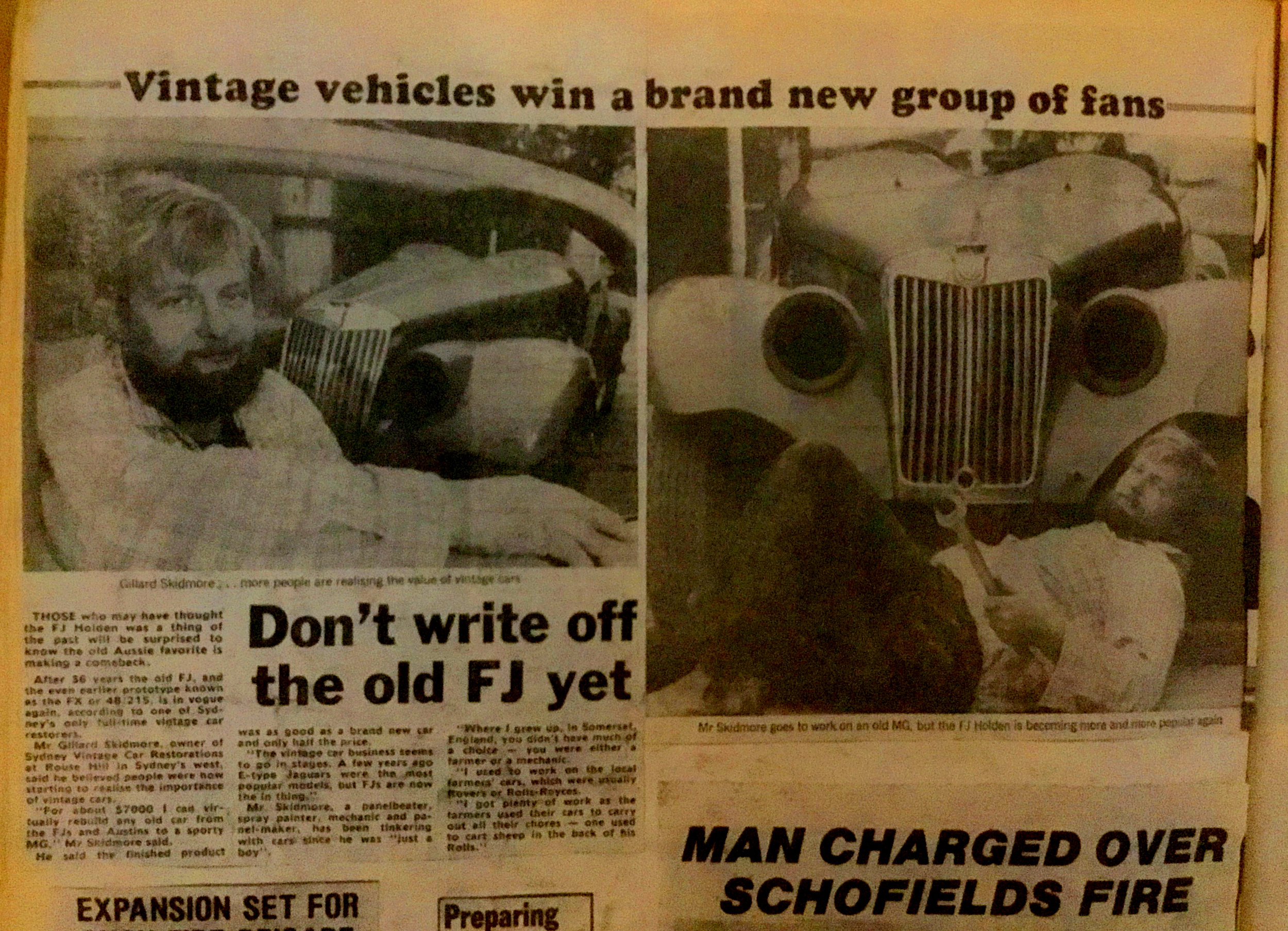 Newspaper article from early 1980's