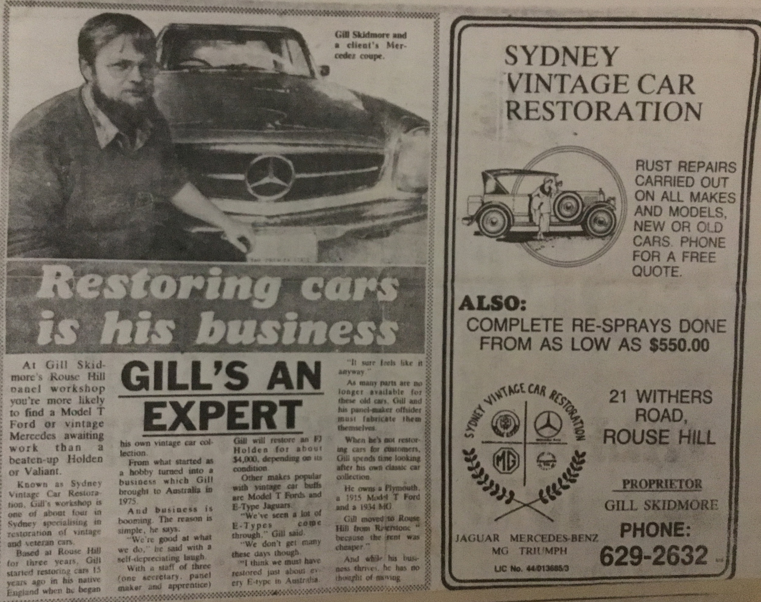 Daily Telegraph mid 1980's