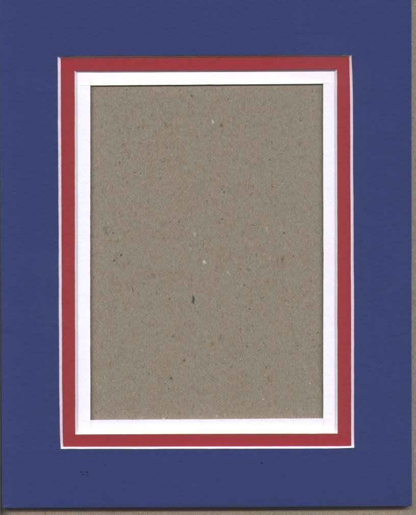 Shown with Royal Blue top mat, Real Red middle mat and White bottom mat