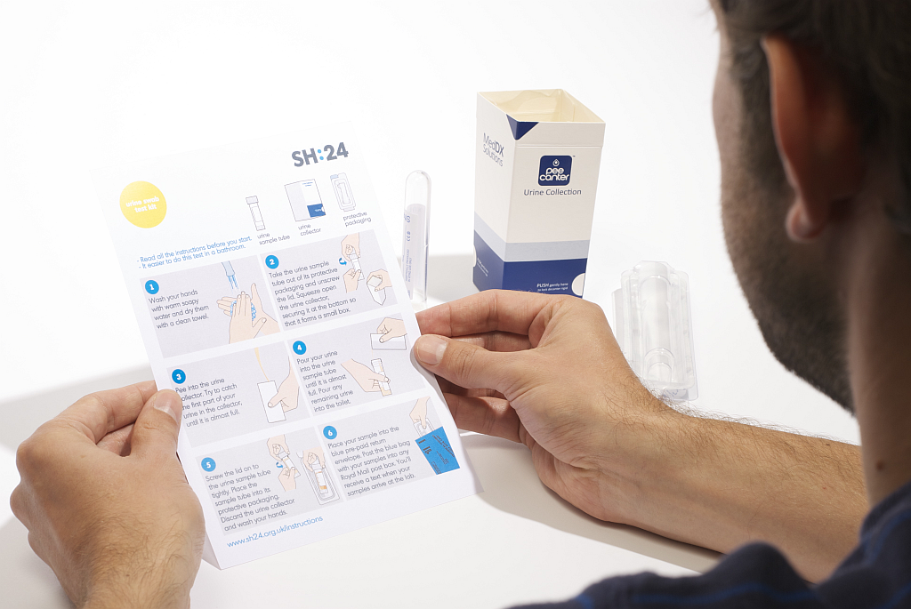 Our at home STI test has been designed with input from users throughout its design and delivery