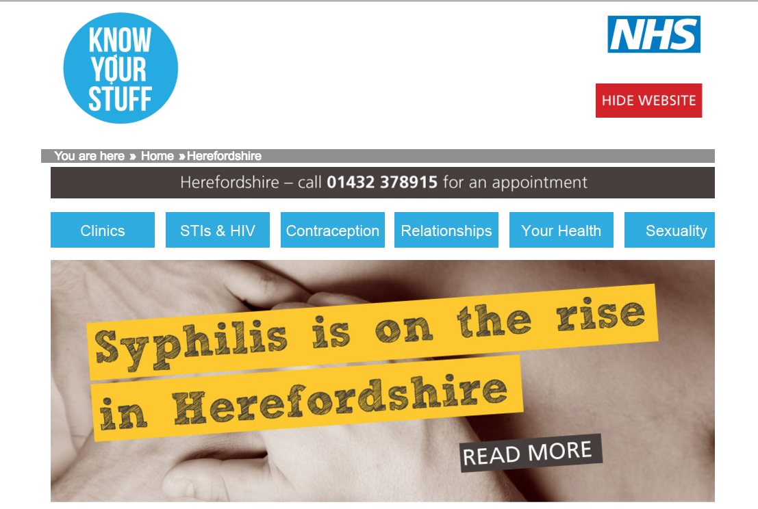 Sexual health - Herefordshire