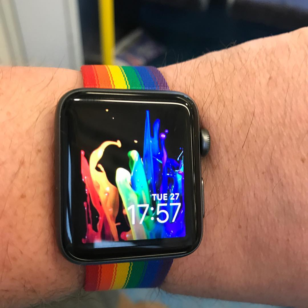 Stuart representing for Pride with his customised watch 🌈