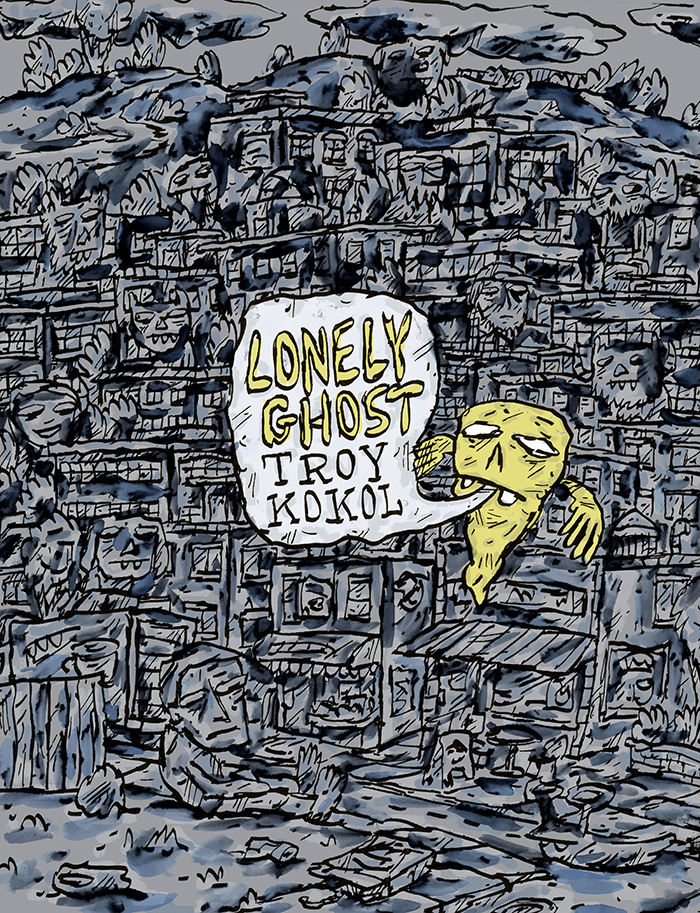 A little while back, I was contacted by Canadian singer / songwriter  Troy Kokol  to do some art for his new album, Lonely Ghost.